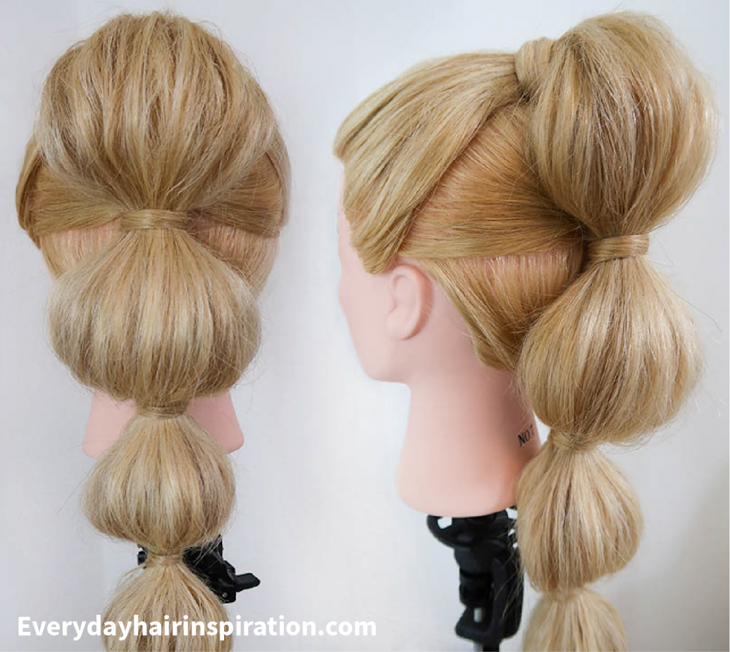 Bubble Ponytail Step By Step Everyday Hair Inspiration