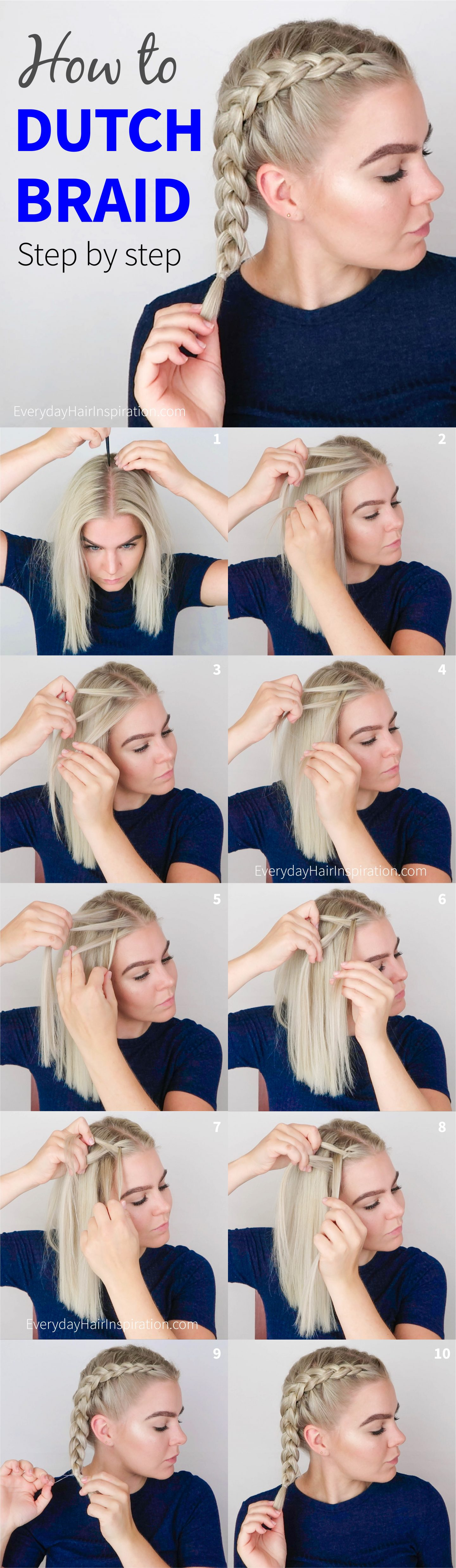 how to dutch braid step by step - everyday hair inspiration