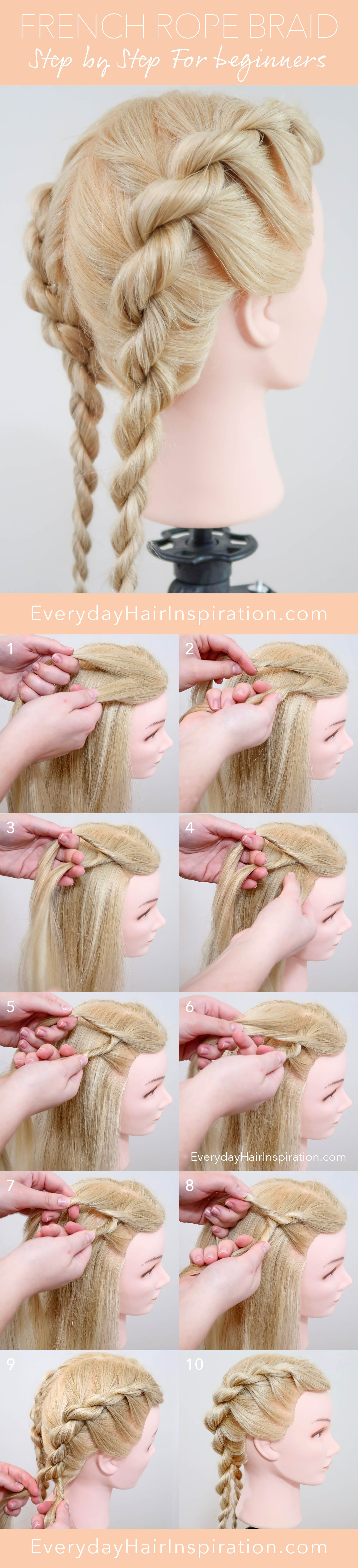 French Rope Braid Step By Step Everyday Hair Inspiration