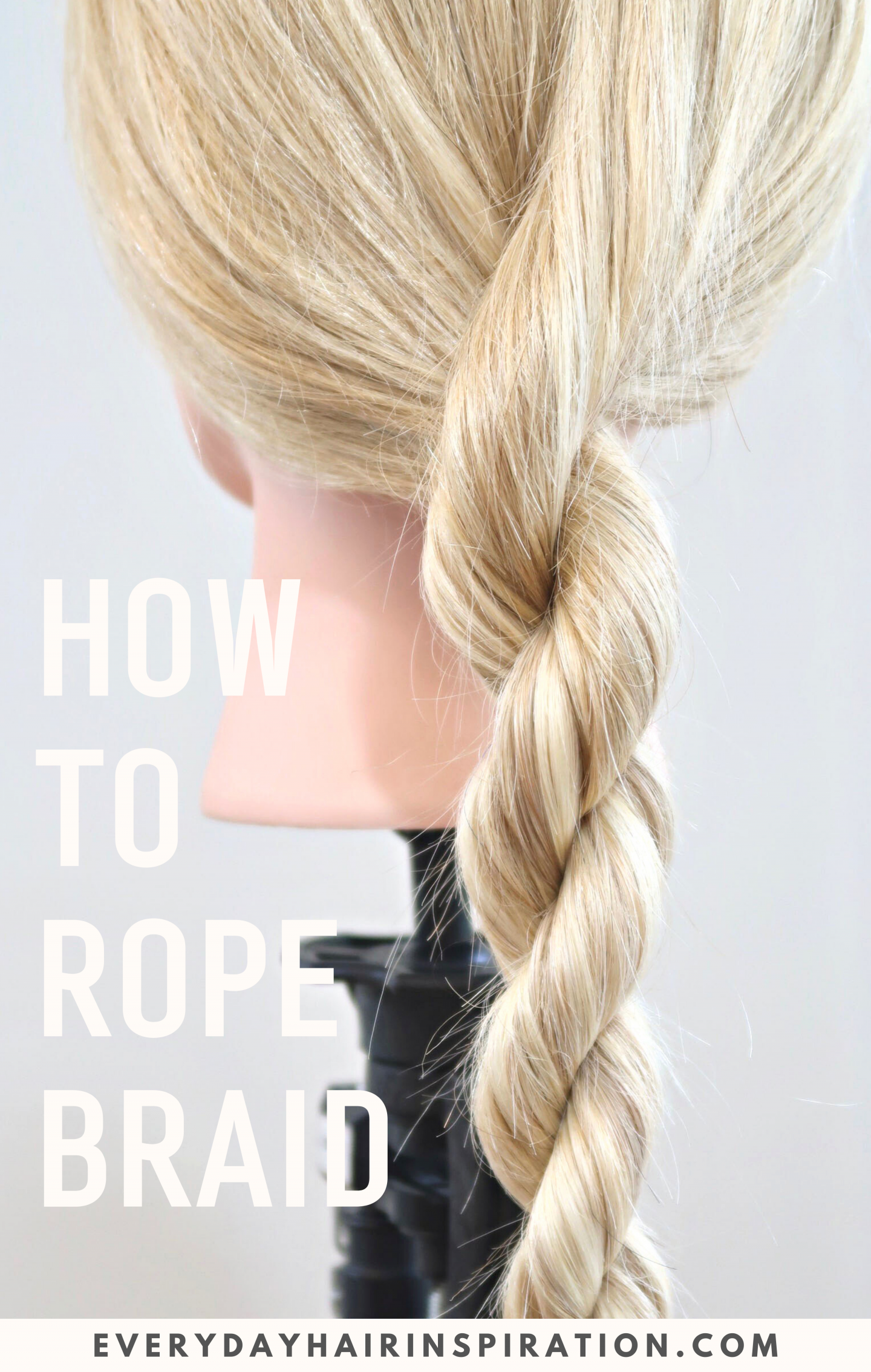 """Picture of a rope braid with text saying """"How to rope braid""""."""